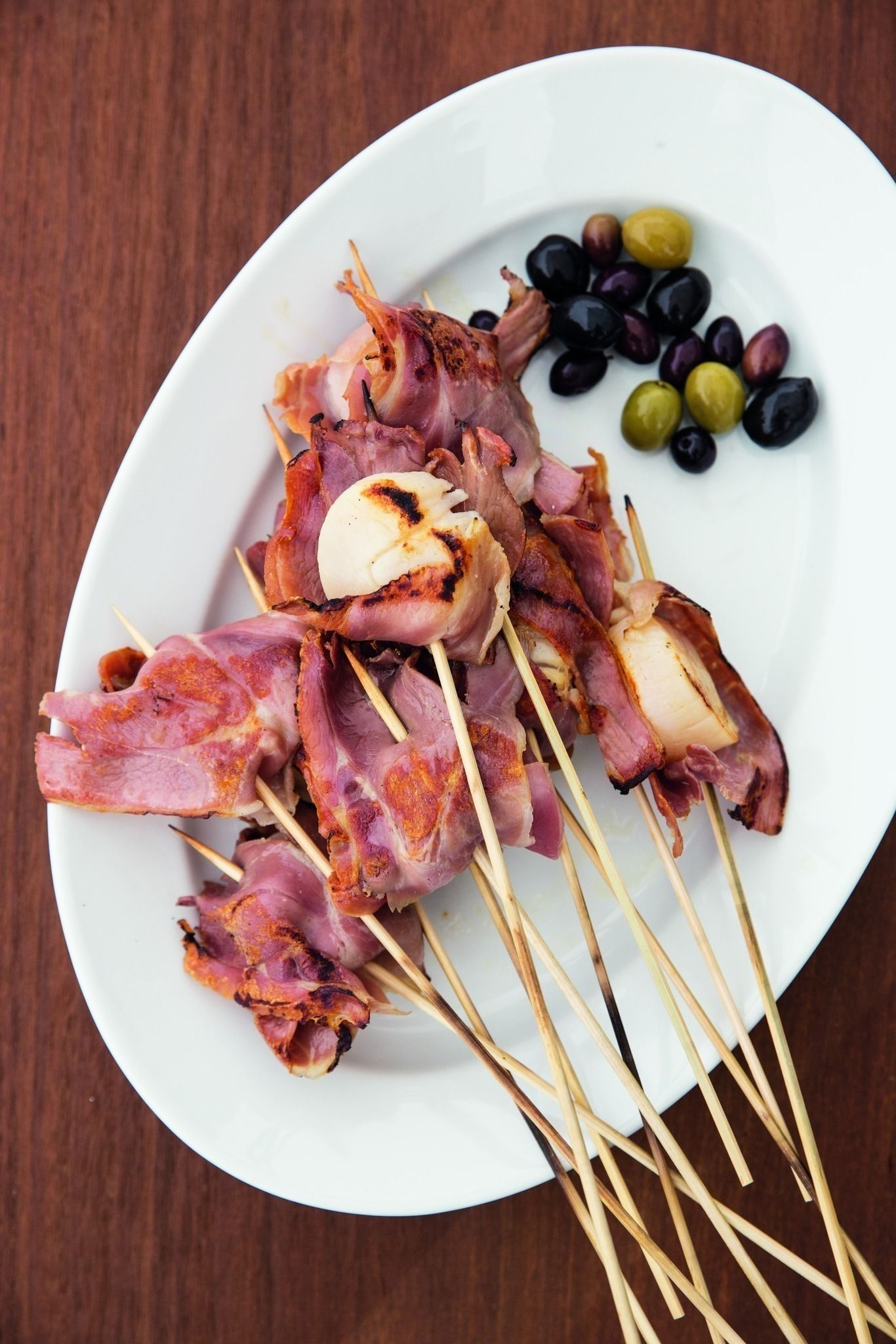 sea scallop lollipops with spiced olives recipe seafood dinner sea scallops fresh scallops pinterest