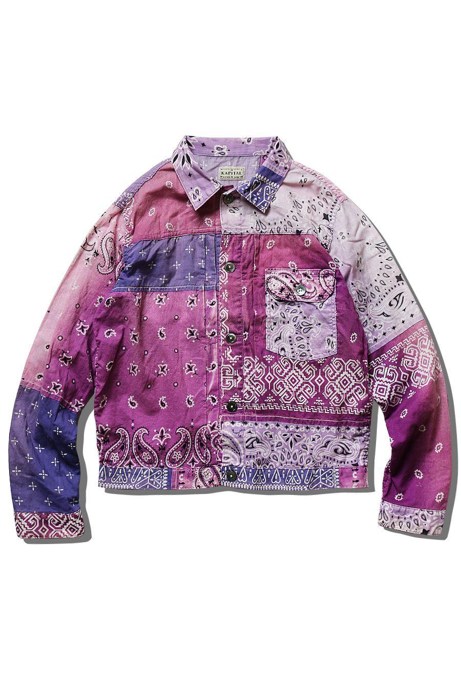 Kapital Delivers New Bandana Patchwork Jacket In Easter Ready Hues Fashion Patchwork Jacket Jackets [ 1350 x 900 Pixel ]