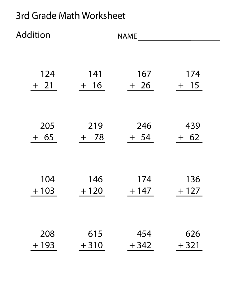 3rd Grade Math Worksheets - Best Coloring Pages For Kids   2nd grade math  worksheets [ 1035 x 800 Pixel ]