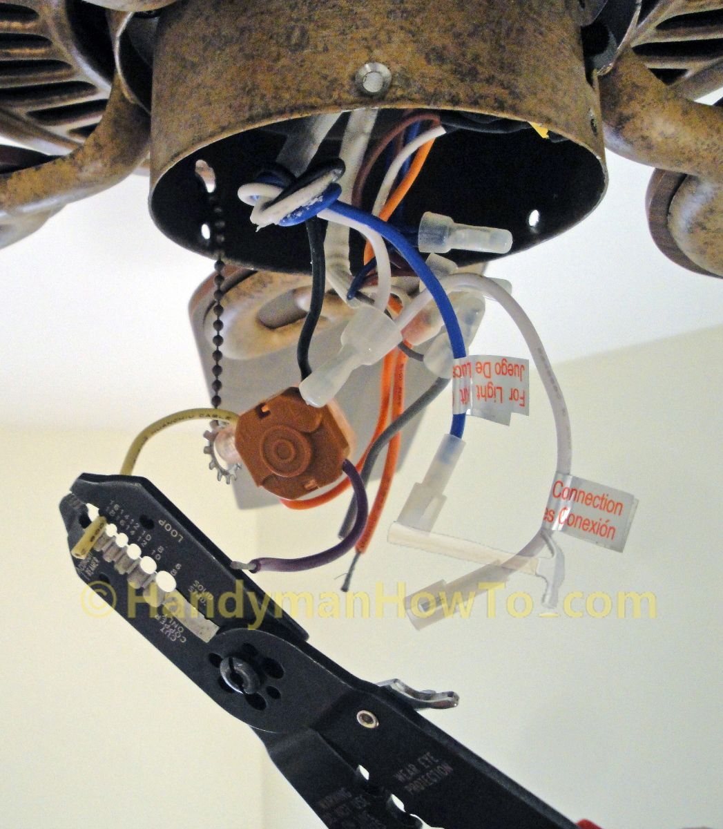 Ceiling Fan Pull Chain Broke New Ceiling Fan Motor Capacitor Replacement Strip The Leads On The Fan Design Inspiration