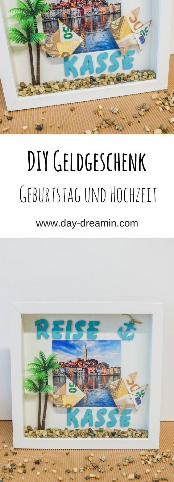 DIY Original Geld Geschenk Urlaub / Flitterwochen