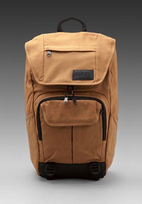 JANSPORT Base Station Backpack in Camel Brown - Backpacks