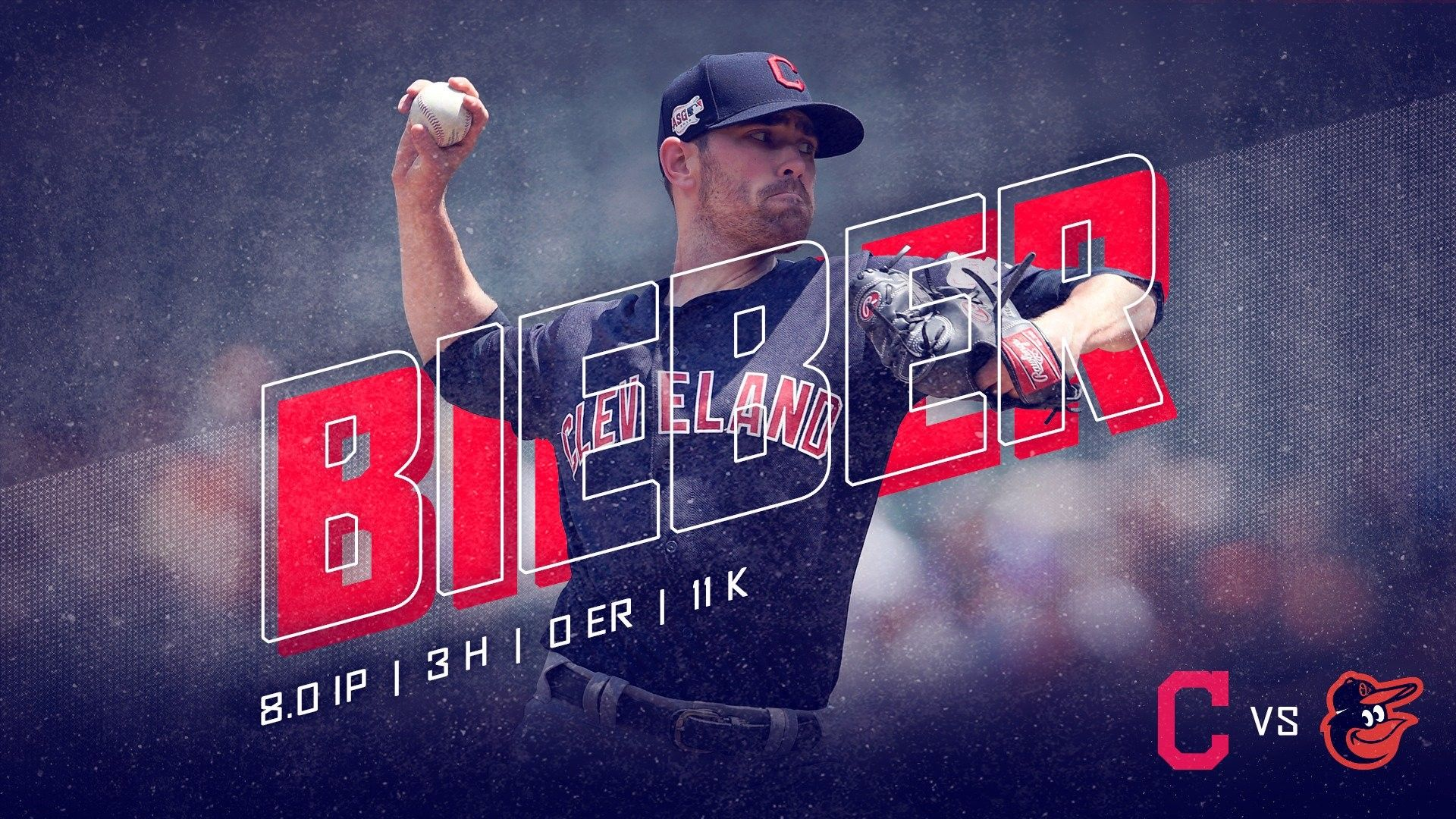 Cleveland Indians Shane Bieber Pitched 8 Scoreless Innings Striking Out 11 Against The Orioles At Candem Yards June Cleveland Indians Indians Baseball Indians