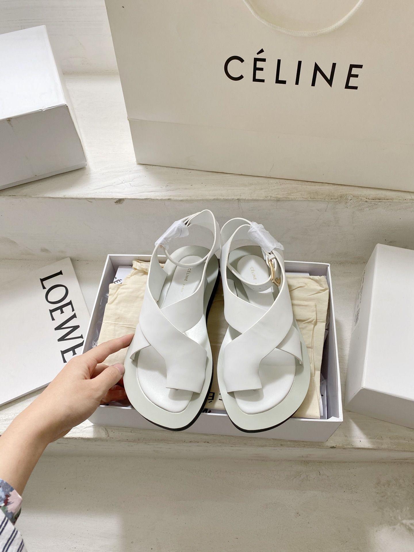 2020 cheap Celine sandal in white