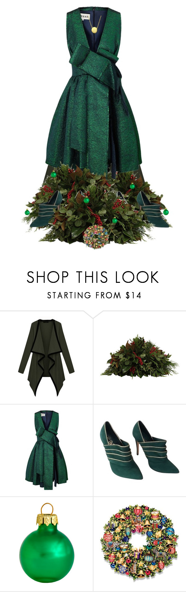 """This christmas I am a tree"" by brooklynbeatz ❤ liked on Polyvore featuring Knud Nielsen Company, A.W.A.K.E., Alice + Olivia, Ball, Bling Jewelry, Christmas, GREEN, holiday and holidaystyle"