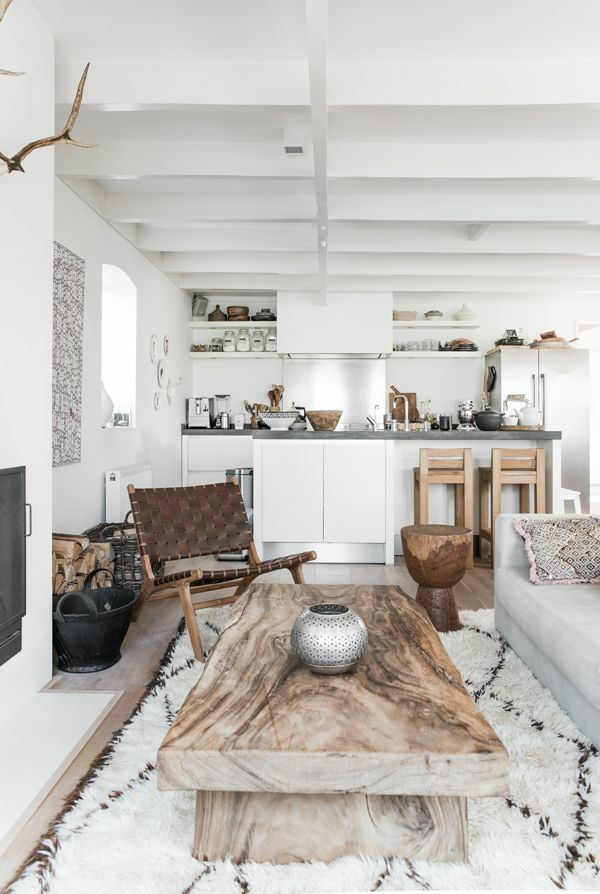 naturholzmöbel massivholz massivmöbel design massiv Scandinavian - wohnzimmer italienisches design