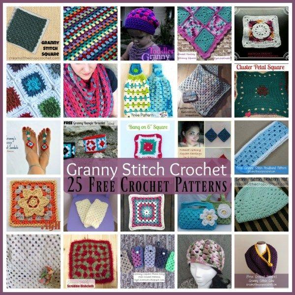 Granny Stitch Crochet ~ 25 FREE Crochet Patterns | IT\'S A GRANNY ...