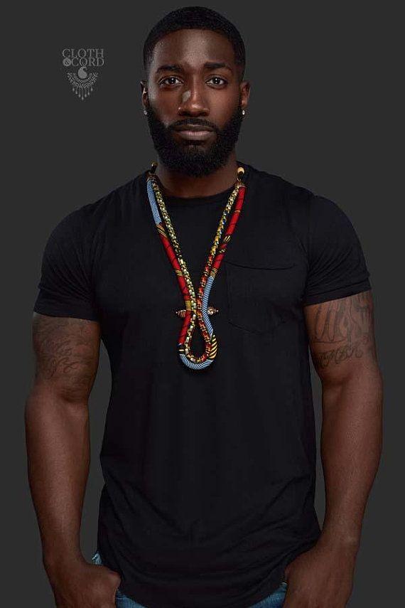collier afrique homme