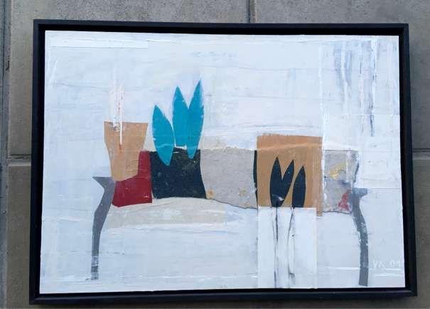 Kraus Viktor, Mischtechnik auf Karton und Holz, White Room 2001