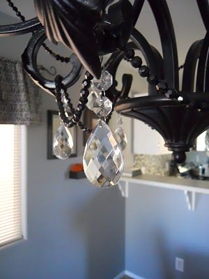 Adding beads crystal to chandelier redo ideas pinterest adding beads crystal to chandelier redo aloadofball
