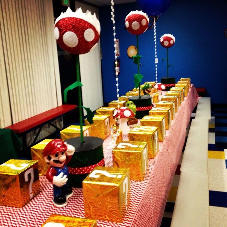Favor boxes super mario party birthday parties mario party