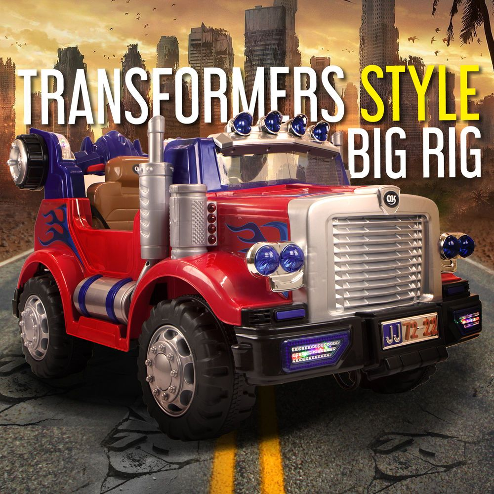 Style Truck Kids Ride On Car Childrens Electric Cars Working Lights