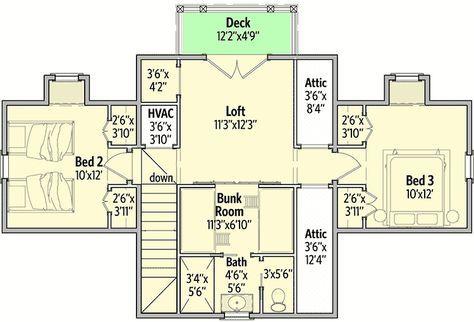 Delightful Cottage House Plan 130002lls Floor Plan 2nd Floor 1 723 Sq Ft 1st Floor 1 021 Sq Ft 2nd Cottage House Plans Cottage Floor Plans House Plans