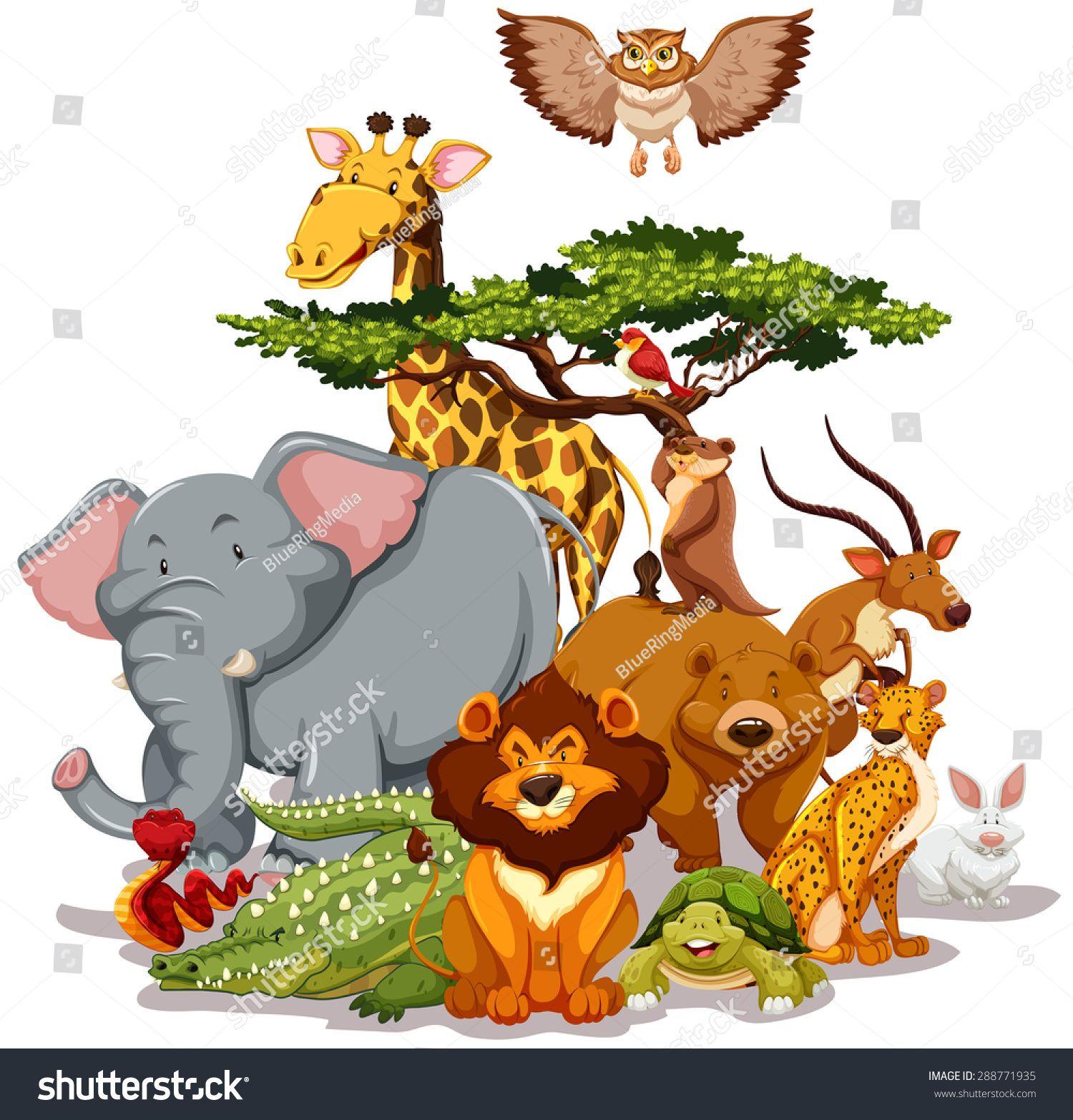 Group Of Wild Animals Gathering Near A Tree Ad Ad Wild Group Animals Tree Dikie Zhivotnye Zhivotnye V Dzhunglyah Detenyshi Zhivotnyh
