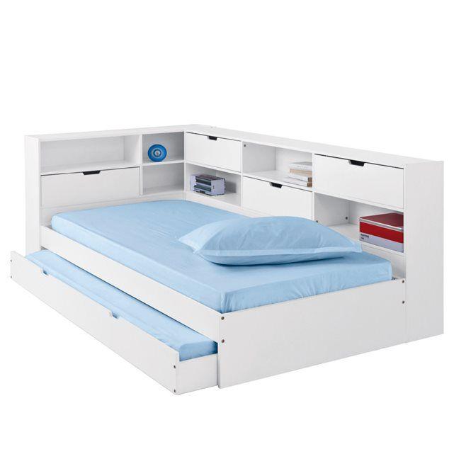 bed met lade etagà res en bedbodem massief dennenhout yann la