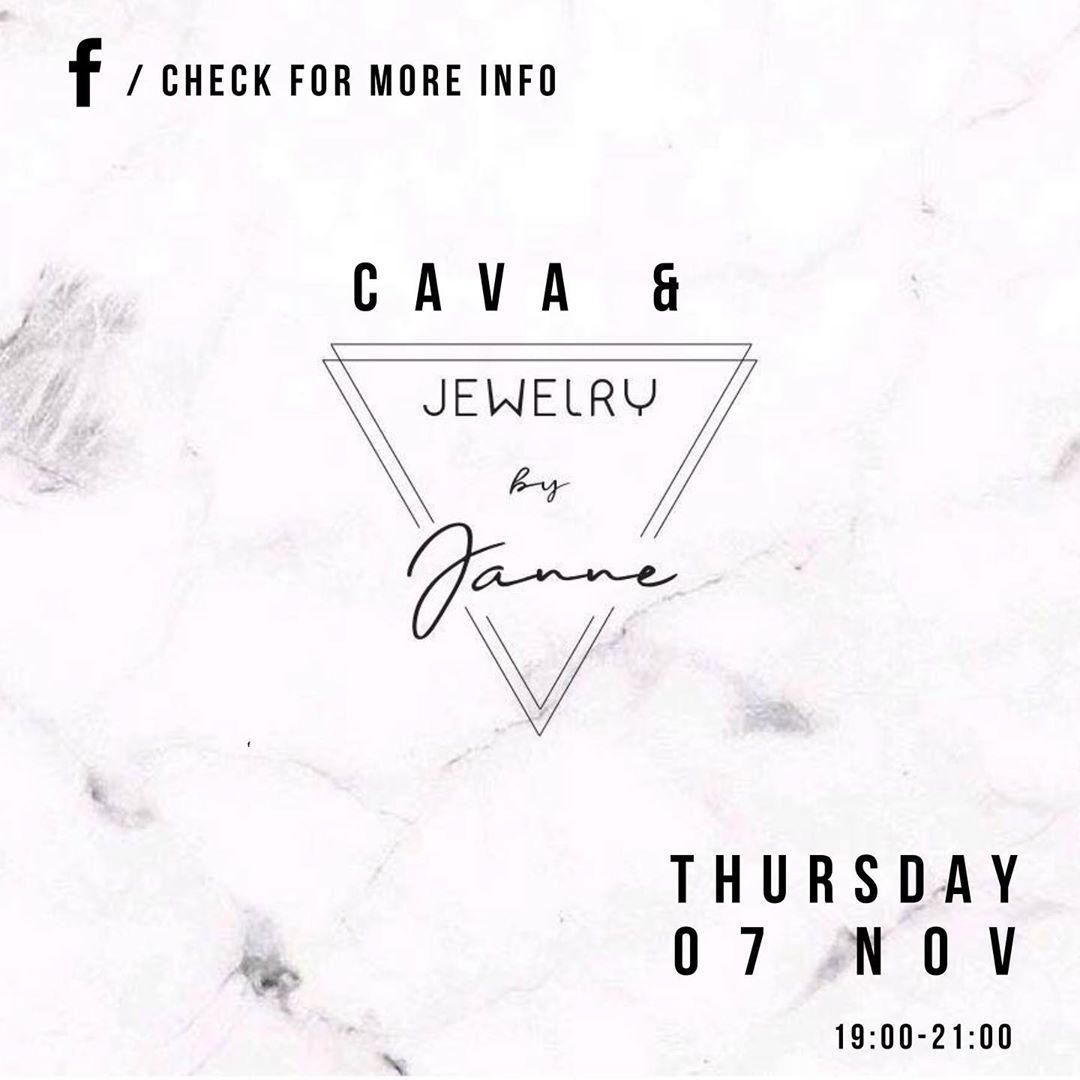 Donderdag 7 november een tweede editie van Cava and @jewelrybyjanne 😍. Wil jij erbij zijn?! Zet je snel op aanwezig op Facebook!