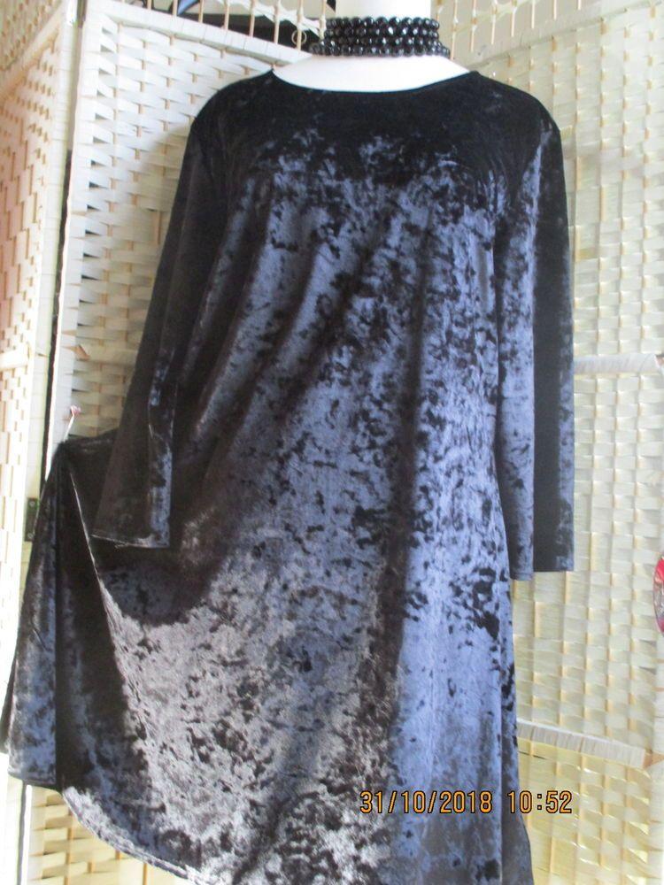 6036b102458 NEXT BLACK CRUSHED VELVET DRESS BNWOT #fashion #clothing #shoes  #accessories #womensclothing #dresses (ebay link)