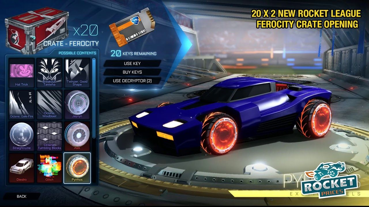 20 X 2 New Rocket League Ferocity Crate Opening New Items Showcase Rocket League Rocket League