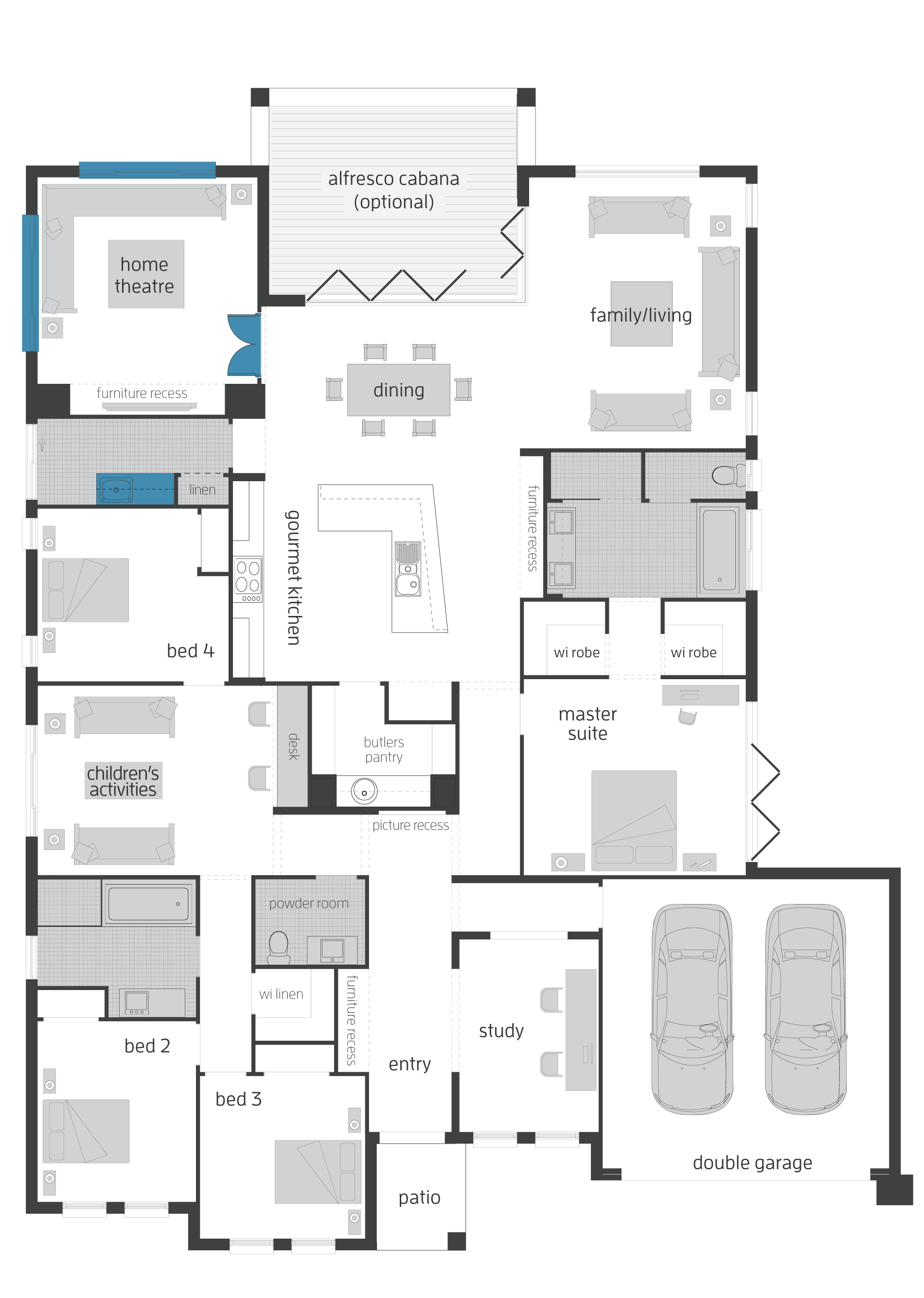 Seaside Retreat Floorplans Mcdonald Jones Homes Single Storey House Plans Floor Plans House Layout Plans