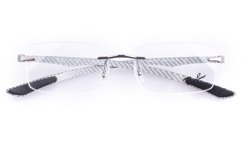 e0ed422913fb Ray-Ban RB8404 Stainless steel Mens Square Rimless Optical Glasses for  Fashion,Party