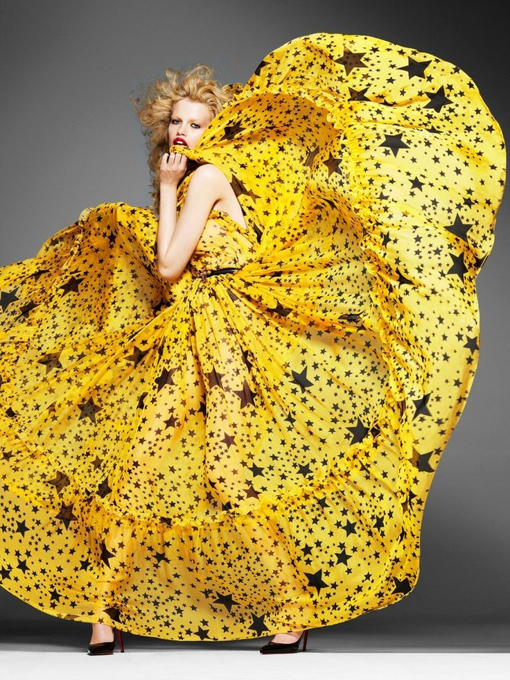 Star Yellow Dress