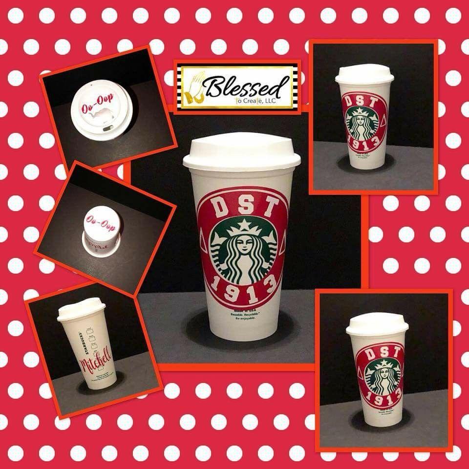 Dst Starbucks Cup Delta Sigma Theta Gifts Theta Crafts Starbucks Cups