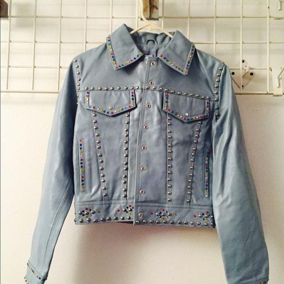 0d7219fa6 Wilson Leather. Baby blue maxima Wilson leather jacket .NWOT. Medium ...