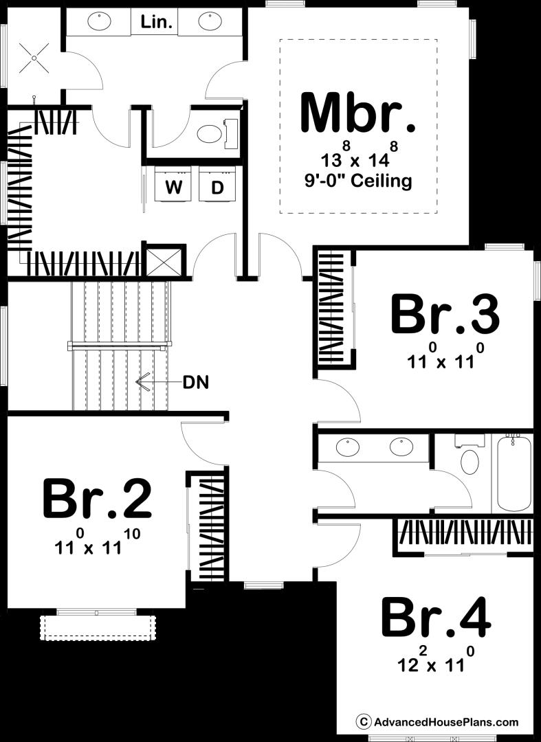 2 Story Modern Farmhouse Style Plan Joelle in 2019