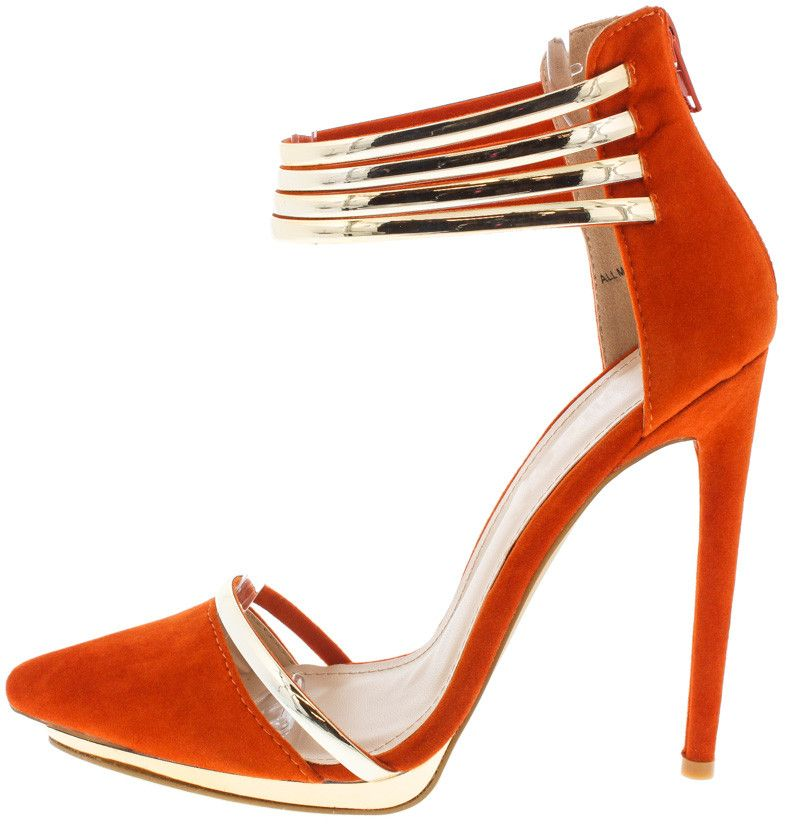 de02a33dfd1 BIANCA BURNT ORANGE ACCENTED POINTED TOE HEEL ONLY $10.88 | New ...