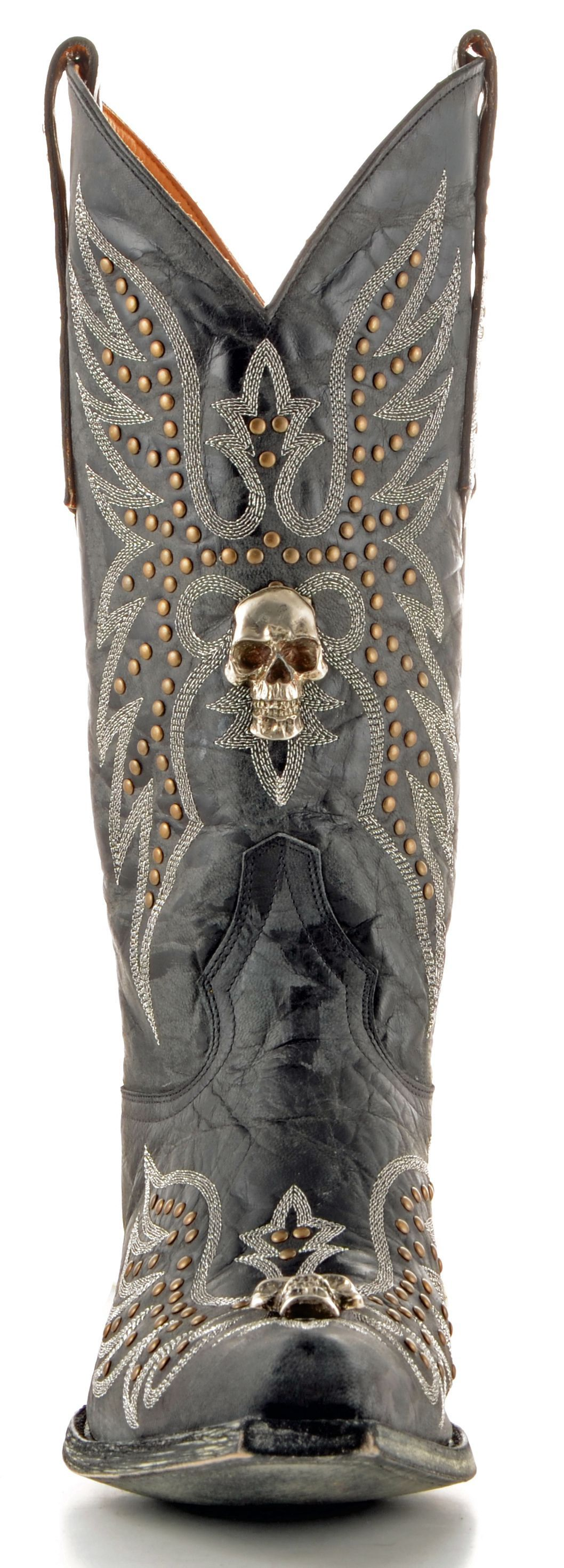 Men's cowboy boots with skulls on them | Mens Old Gringo Hitchcock ...