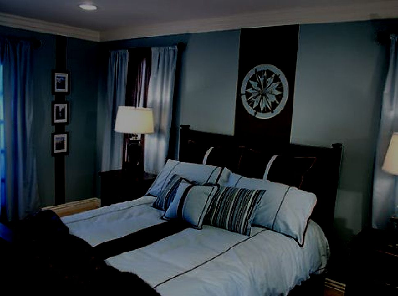 Bedroom Decorating Ideas In Blue And Brown Color 2014 Wallpaper