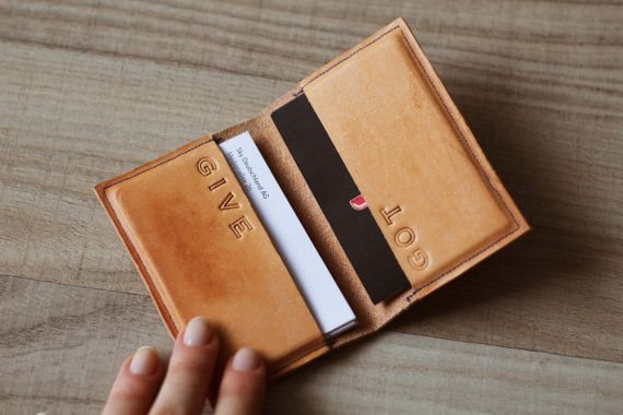 Custom Business Card Case From Genuine Leather