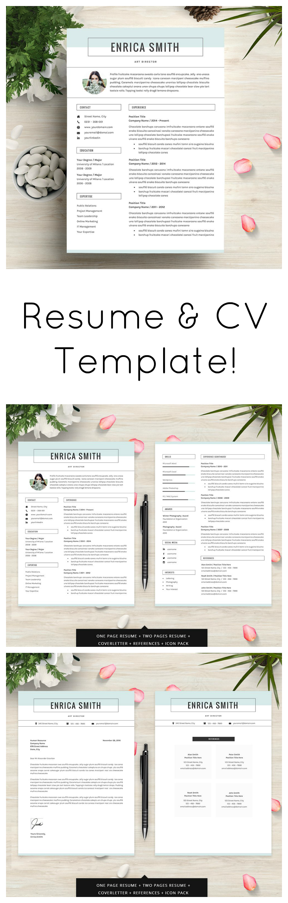 Very Stylish And Impressive Resume Template To Use Love How Clear