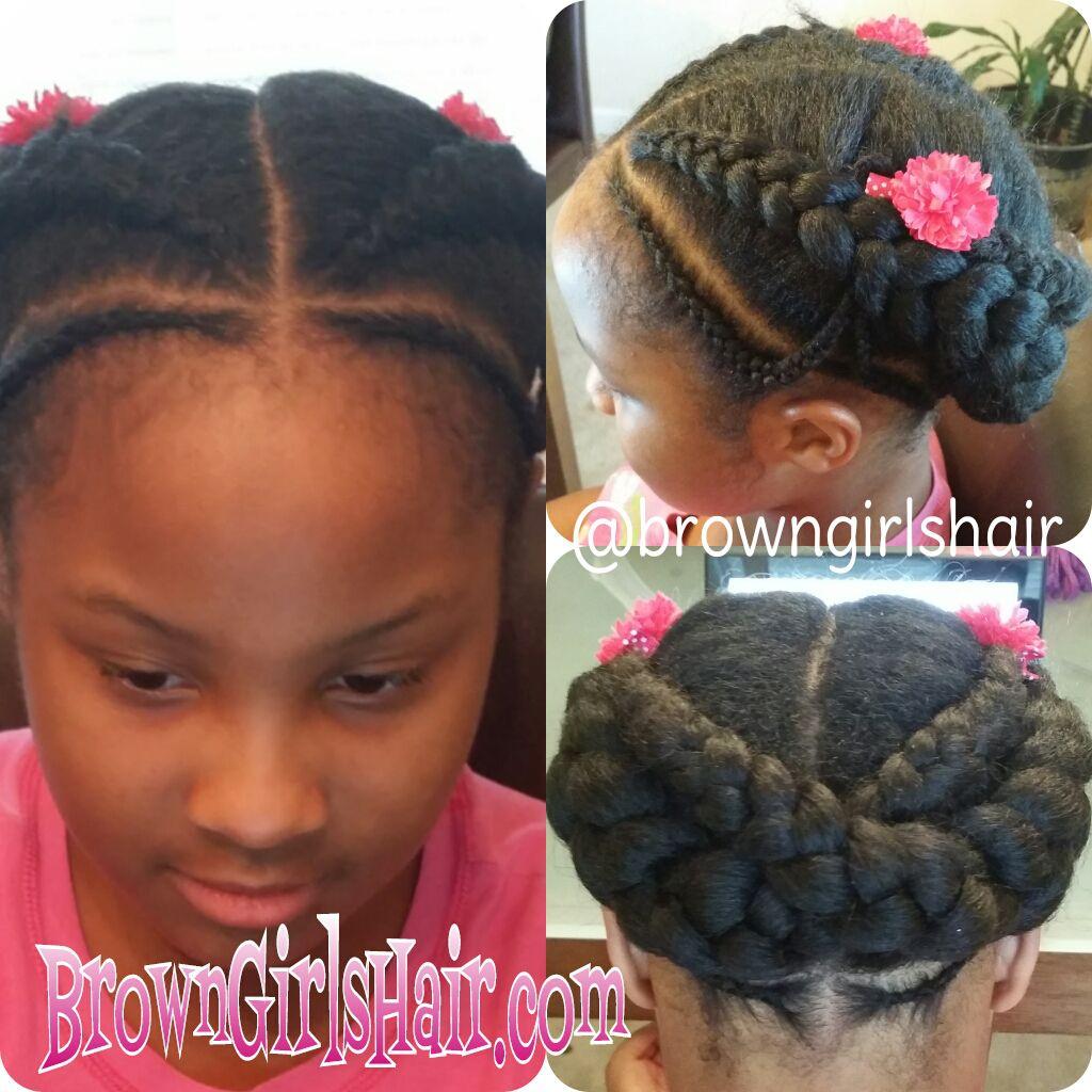 Summer  Cornrows Little Black Girls Hairstyle Tutorial -4867