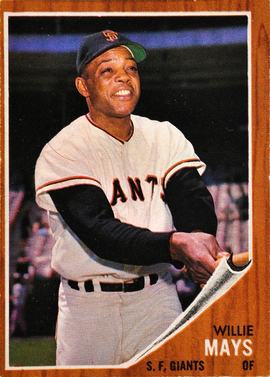 1962 Topps Willie Mays Baseball Cards Baseball Card