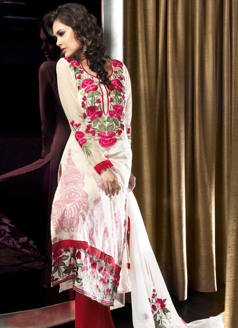 Readymade Traditional Embroidered Salwar Kameez Cotton Indian Dress