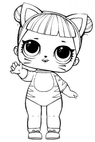 Раскраска LOL Surprise Baby Cat | Шаблоны животных ...