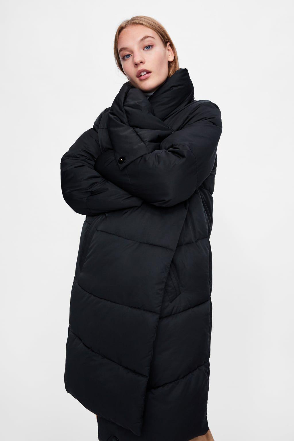 Puffer Coat With Wrap Collar From Zara Puffer Coat Quilted Coat Coat [ 1536 x 1024 Pixel ]