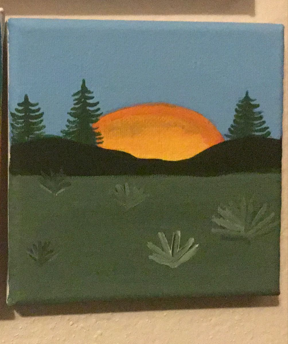 #canvasart #SunrisePainting #SimpleCanvas