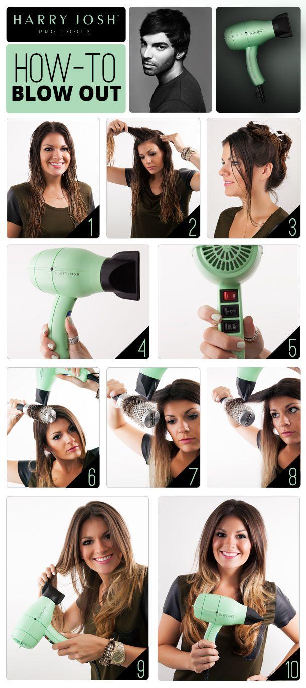 Diy Blow Out Hair Style Diy Long Hair Updo Hair Ideas Easy Diy Diy Hair Hairstyles Hair Accessories Hair Tutorials Blow Blowout Hair Blowout Hair Tutorial Hair