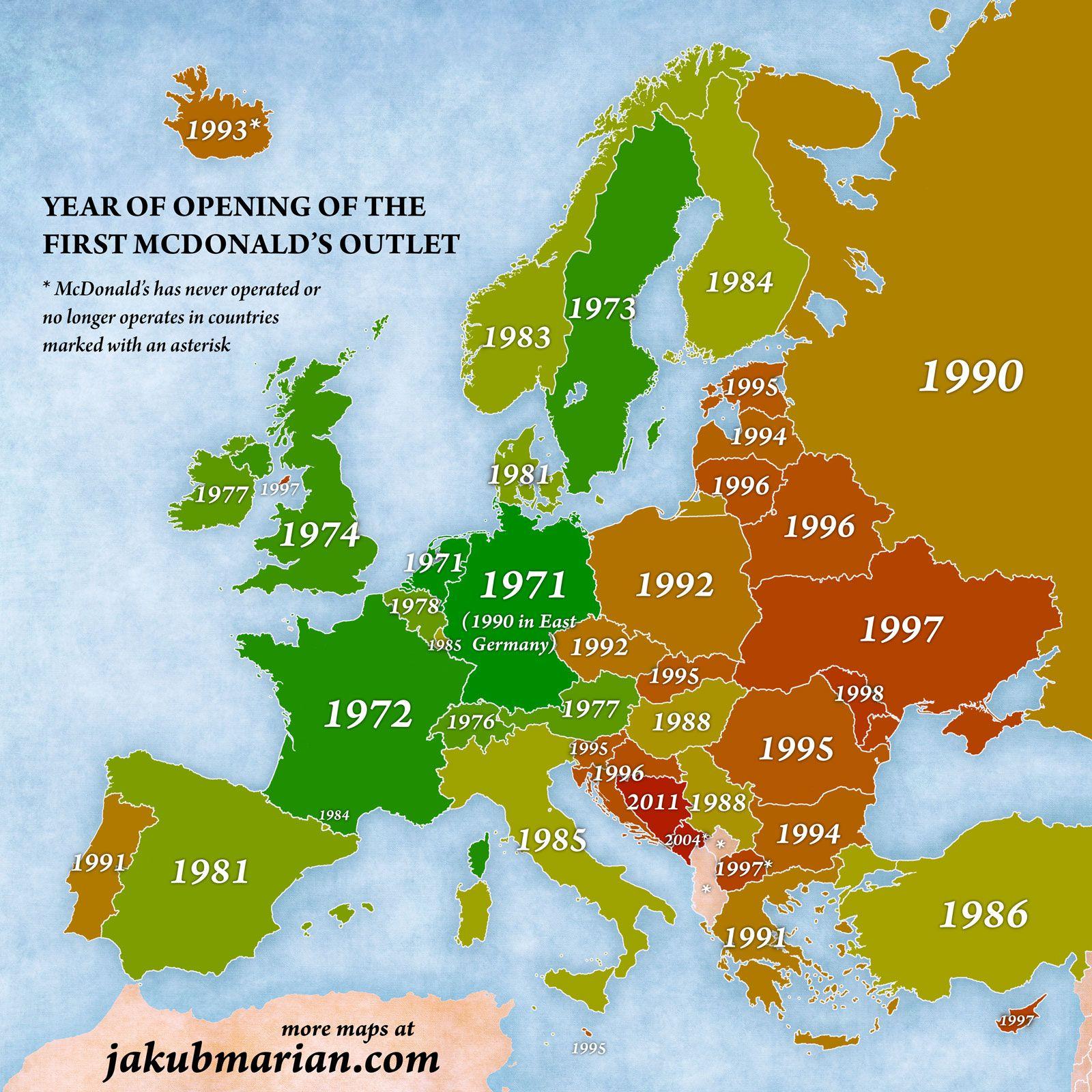 Munich Map Of Europe The first McDonald's restaurant in Europe opened in 1971 in the