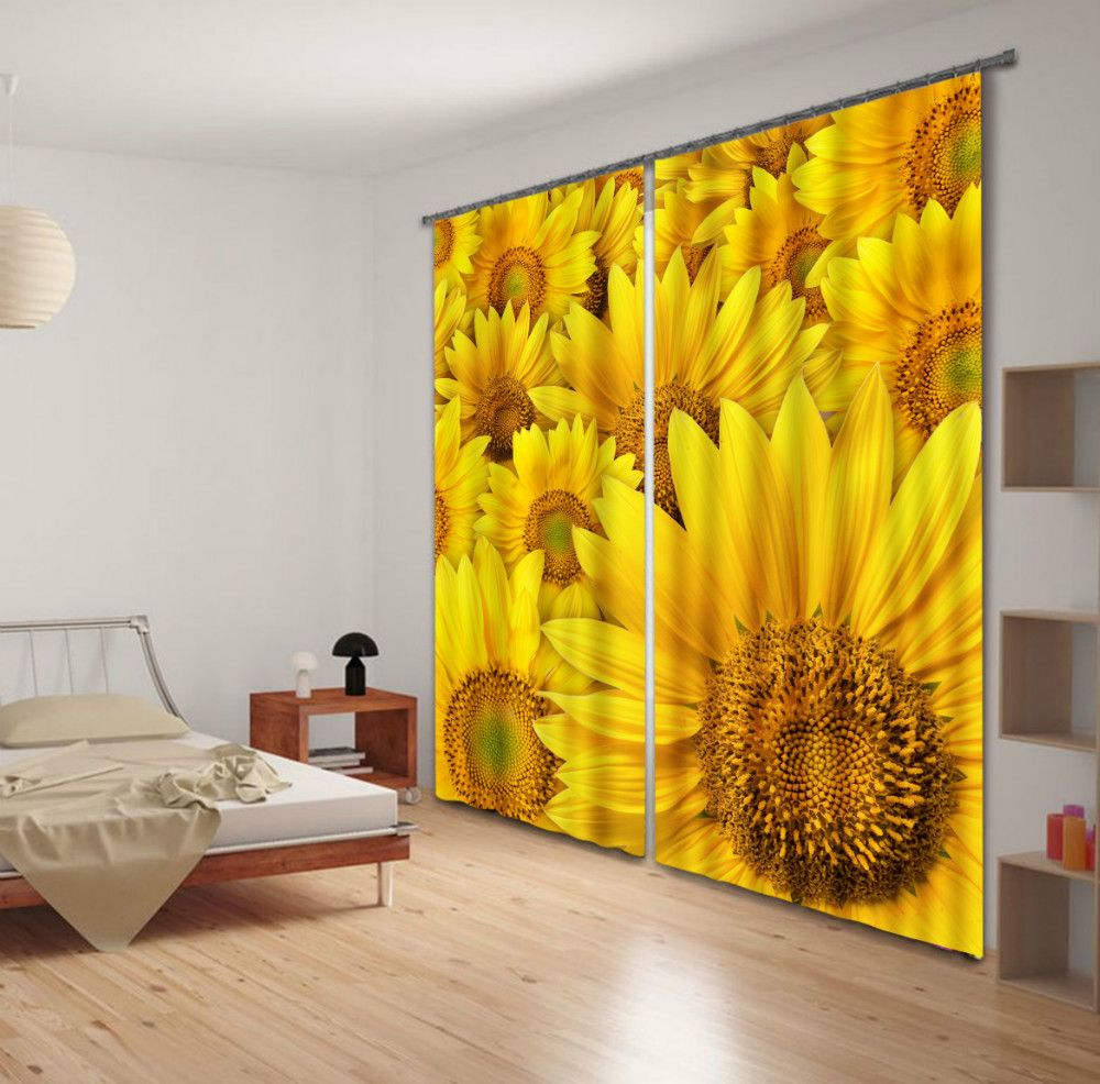Sunflower Curtains Buying Guides Chinese Furniture Design Sunflower Curtains Blackout Curtains Curtains #sunflower #curtains #for #living #room