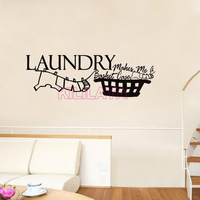 Aliexpress Com Buy Vinyl Wall Stickers For Laundry Room Makes Me A Basket Case Mural Wall Decals W Room Stickers Vinyl Wall Stickers Wall Stickers Home Decor