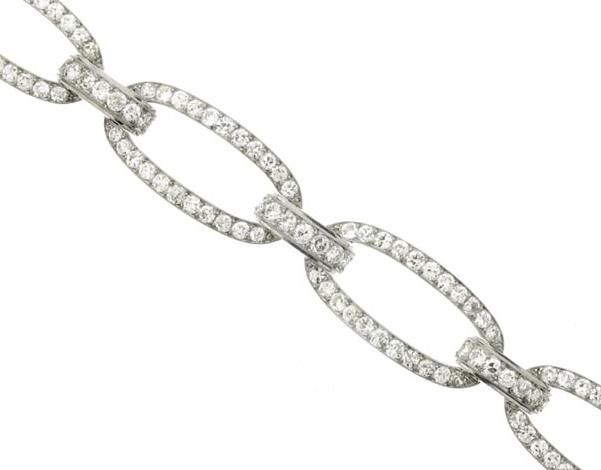 Diamond bracelet by Georges Fouquet, French, circa 1920.