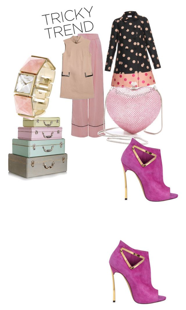 """Pink"" by luxaleyda on Polyvore featuring RED Valentino, Whiting & Davis, Vince Camuto, Casadei, MANGO, TrickyTrend and culottes"