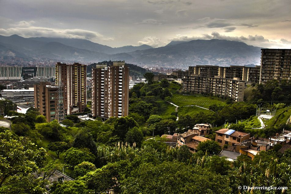 City skyline of Medellin, one of the most popular city
