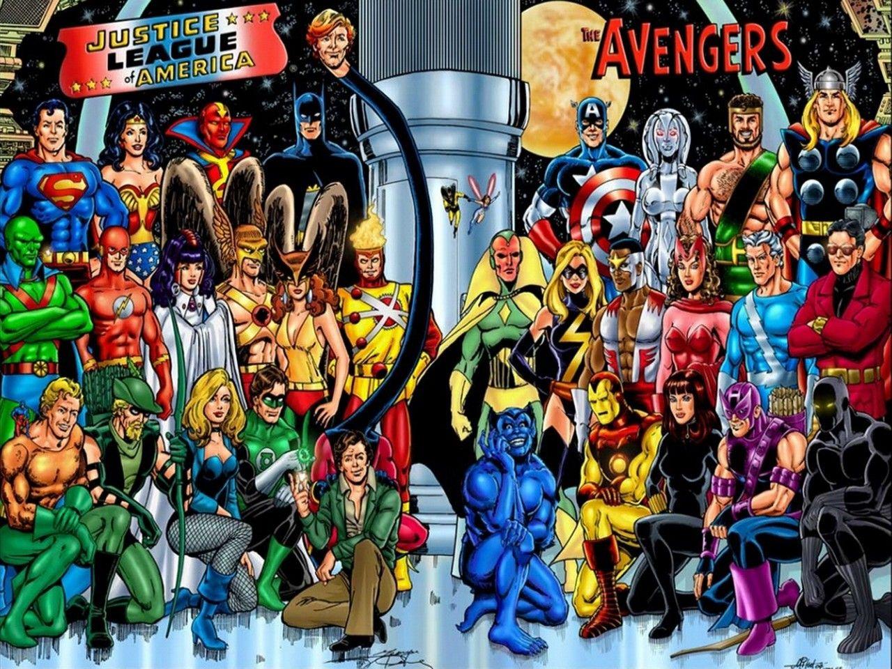 Jla And Avengers 1280 X 960 Jla Wallpapers Comic Wallpapers
