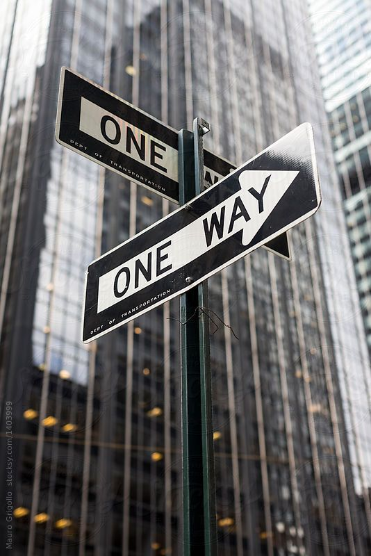 one way sign wall street new york by mauro grigollo for on wall street news id=96853