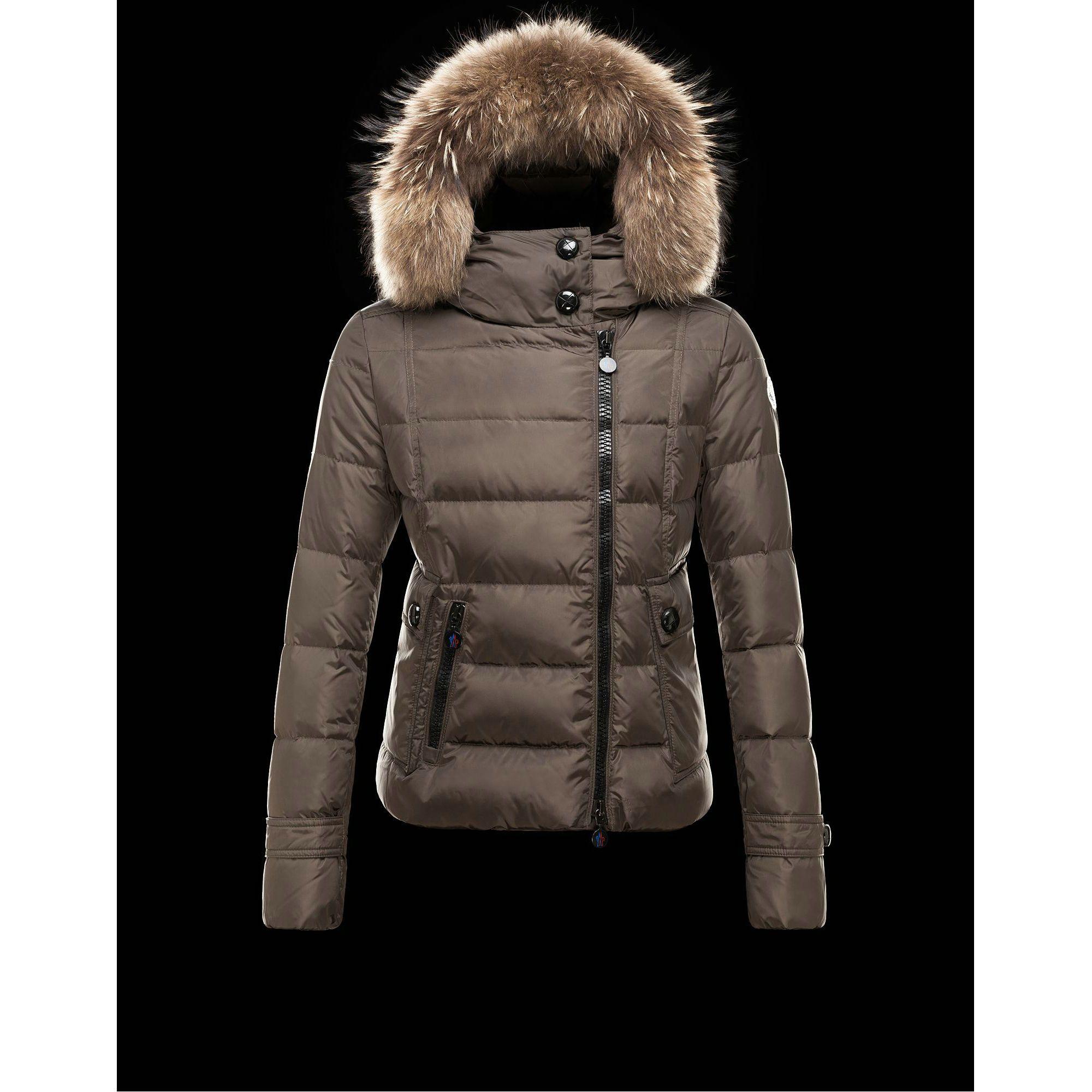 2015 New! Moncler Bryone Down Jacket For Women Dark Green