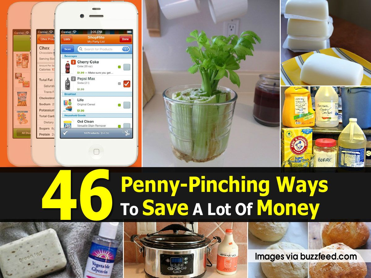 46 Penny-Pinching Ways To Save A Lot Of Money